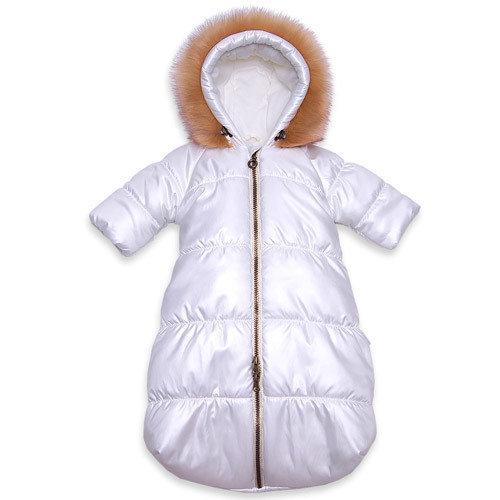 Комбинезон-мешок зимний ФИАНИТ, (для автокресла), молочный