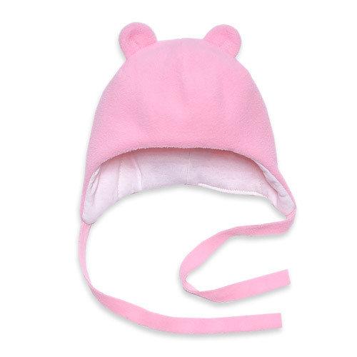Шапочка флисовая с ушками MIKKI, розовый