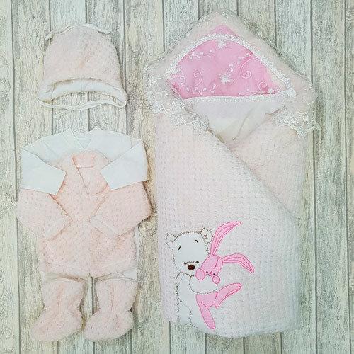 Комплект «Зайка моя», розовый (зима, демисезон)