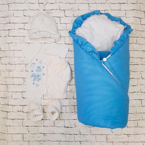 """Комплект на выписку  """"Baby Collection"""" (зима/деми), голубой"""