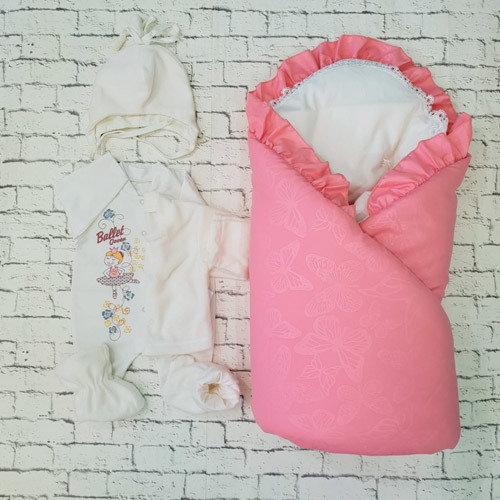 """Комплект на выписку  """"Baby Collection"""" (зима/деми), розовый"""