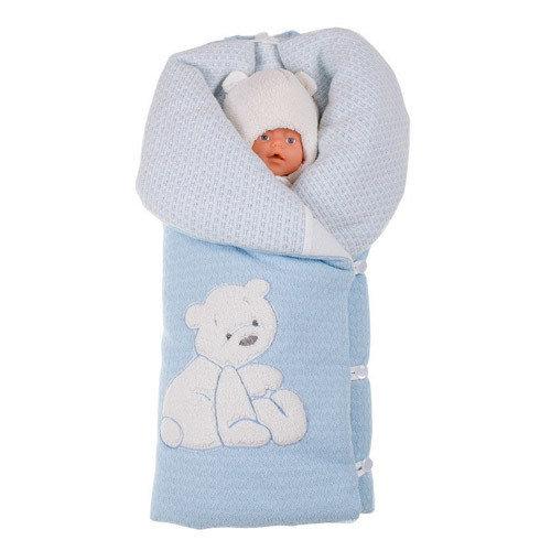 Комплект на выписку «My Teddy Bear» (зима, демисезон), голубой