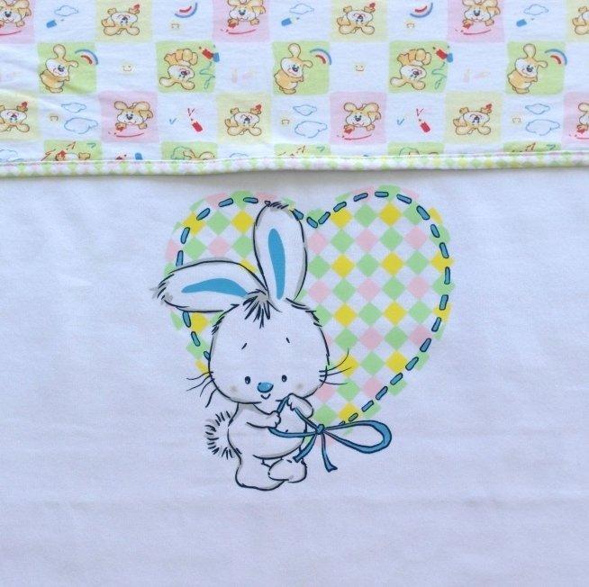 Одеяло детское двойное, светло-голубой