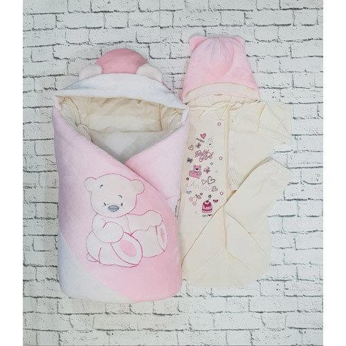 "Комплект на выписку «My Little Bear"" (демисезон, зима), розовый"