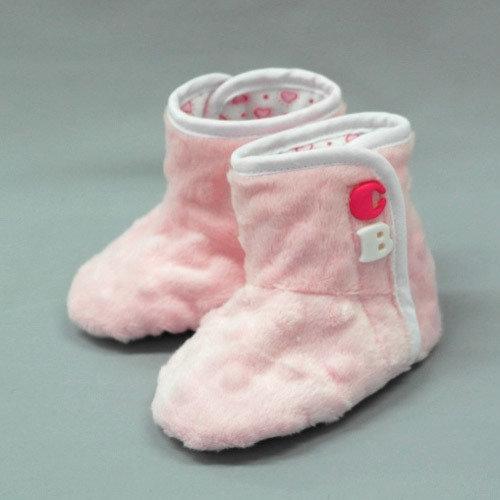 Башмачки БУКВЫ для девочки, светло-розовый