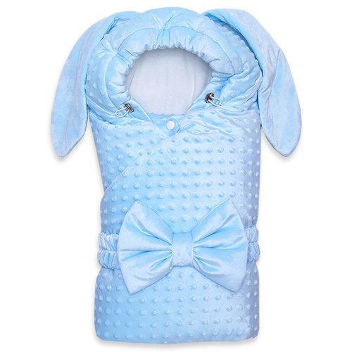 Одеяло с капюшоном деми ZAYA, голубой