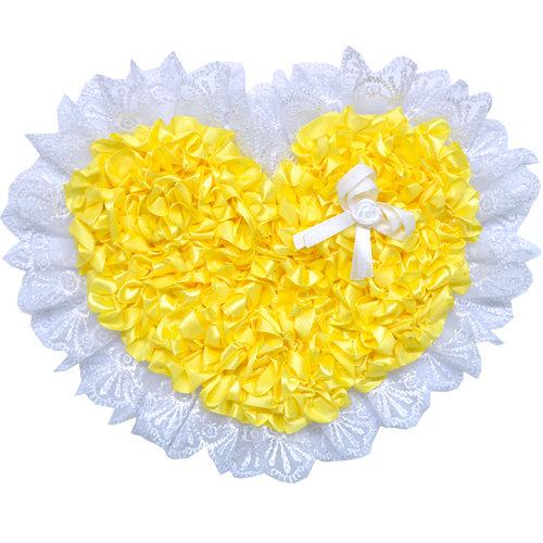 Бант нарядный на выписку (атлас) 15см, лента 2м, желтый