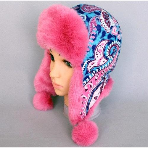 Зимняя шапочка ПАВЛИНА, малина