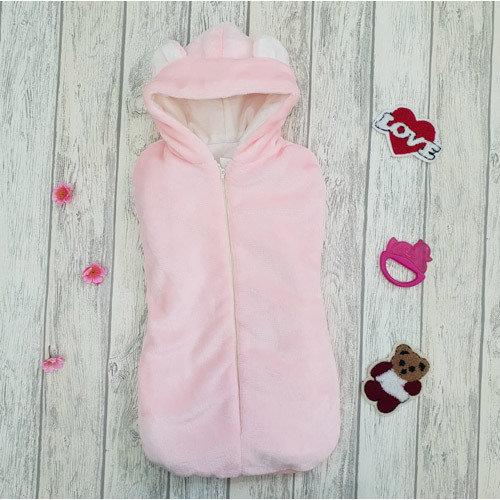 Утепленный кокон-конверт на молнии «Чудесёнок», розовый