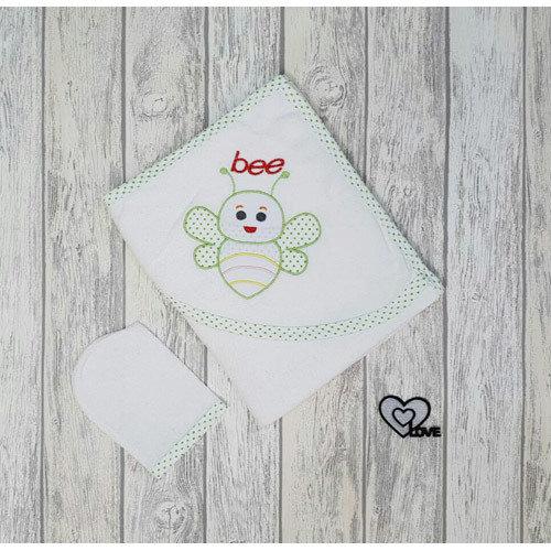 Комплект для купания «Пчелка» зеленая окантовка