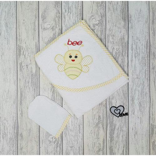 Комплект для купания «Пчелка» желтая окантовка