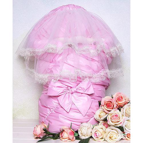 Комплект на выписку ФЛОРЕНЦИЯ, зима, розовый