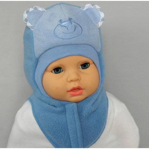 Шапочка-шлем для мальчика УМКА, голубой