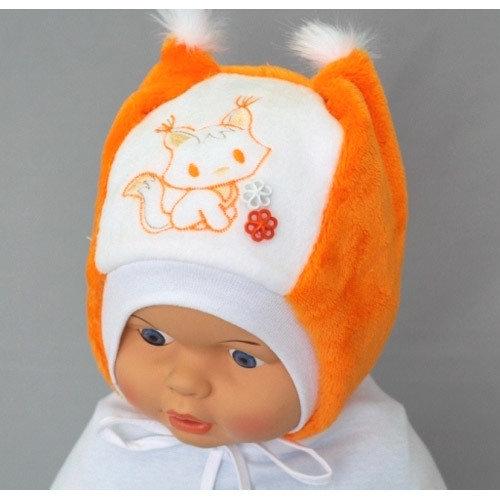Шапочка для девочки МИЛКА, оранжевый