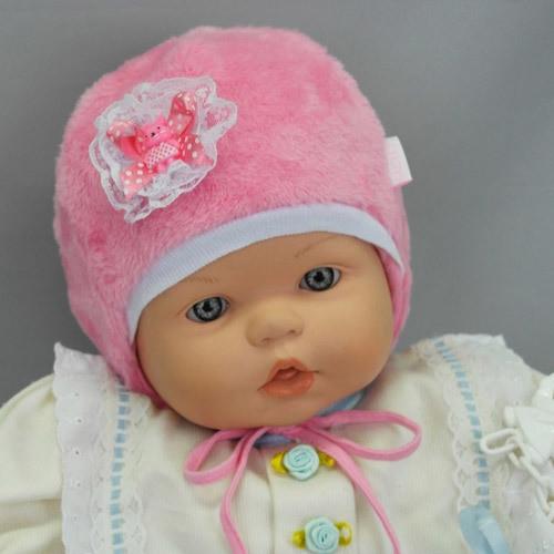 Шапочка для новорожденной девочки ДЕТКА, розовый