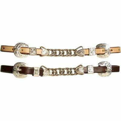 Western Silver Show Curb Chain