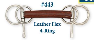 B443 Leather Flex 4-Ring