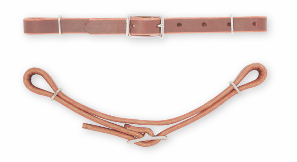 Solid Leather Curb Strap