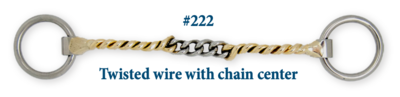 B222 Twisted Wire w/ Chain Center