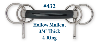 """B432 Hollow Mullen, 3/4"""" Thick 4-Ring"""