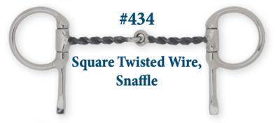 B434 Square Twisted Wire Snaffle