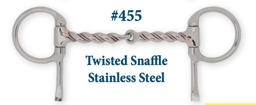 B455 Twisted Snaffle Stainless Steel