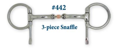 B442 3-Piece Snaffle