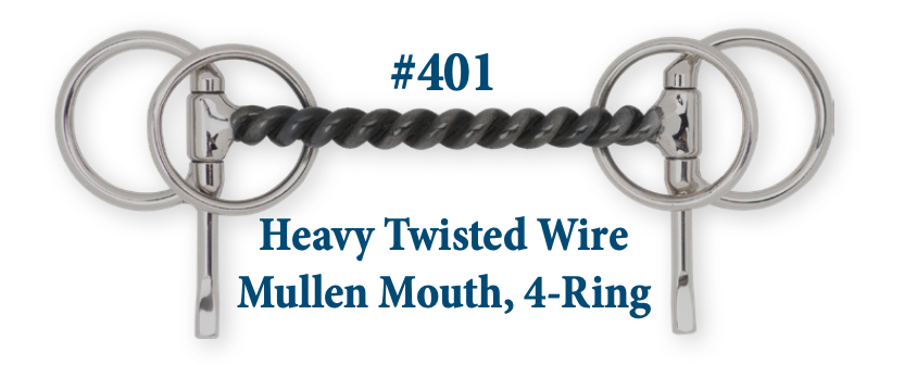 B401 Heavy Twisted Wire Mullen, 4-Ring