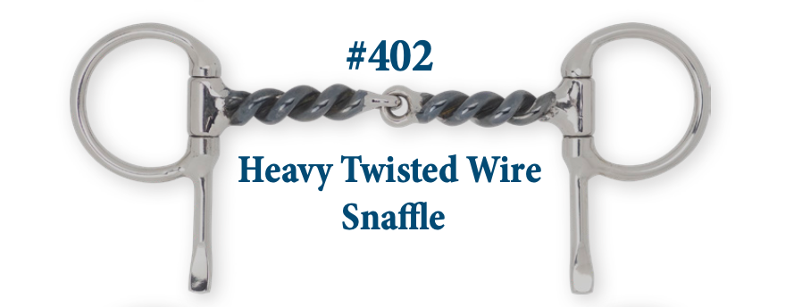B402 Heavy Twisted Wire Snaffle