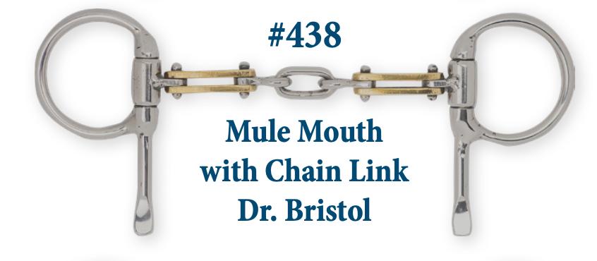 B438 Mule Mouth w/ Chain Link Dr. Bristol