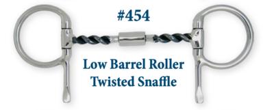 B454 Low Barrel Roller Twisted Snaffle