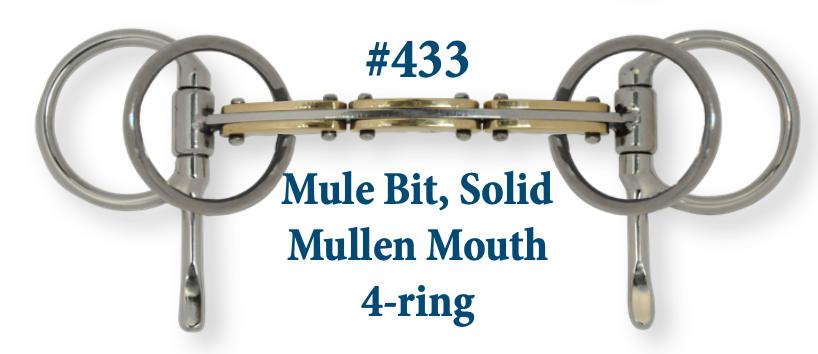 B433 Mule Bit, Solid Mullen Mouth