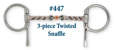 B447 3-Piece Twisted Snaffle
