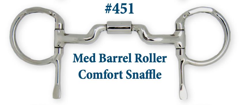 B451 Med Barrel Roller Comfort Snaffle