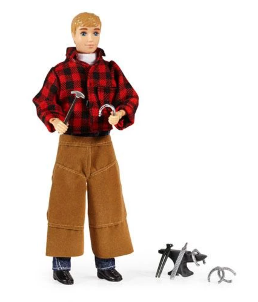"Farrier w/ Blacksmith Tools 8"" Figure"
