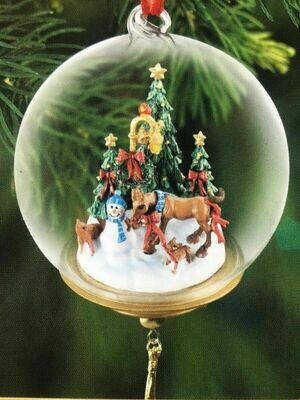 First Holiday Glass Globe Ornament 2014