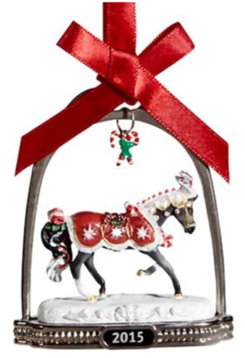 Stirrup Ornament: Peppermint Kiss