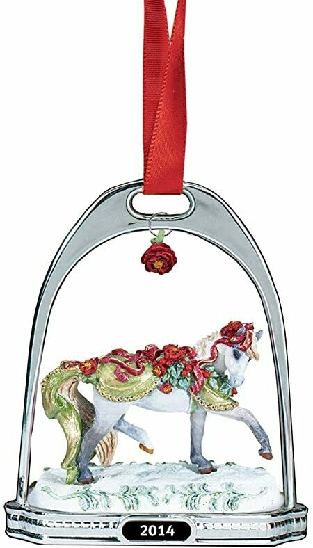 Stirrup Ornament: Bayberry and Roses