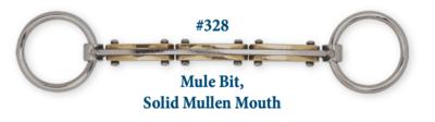 B328 Brad. Mule Bit Solid Mullen Mouth