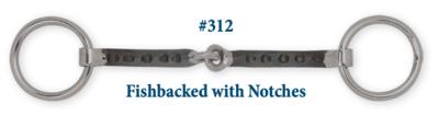 B312 Brad. Fishbacked Snaffle w/ Notches