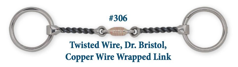 B306 Brad. Twist Wire Dr. Bristol Cop. Wrap Link