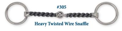 B305 Brad. Heavy Twisted Wire Snaffle