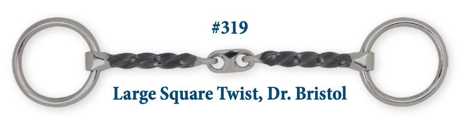 B319 Brad. Large Square Twist Dr. Bristol
