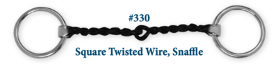 B330 Brad. Square Twisted Wire Snaffle