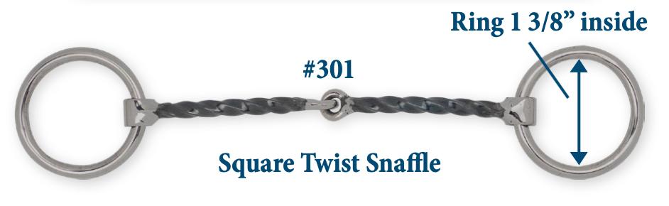 B301 Brad. Square Twisted Snaffle