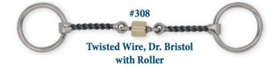 B308 Brad. Twisted Wire Dr. Bristol w/ Roller