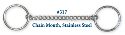 B317 Brad. Chain Mouth Stainless Steel