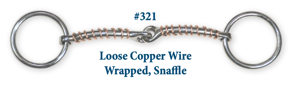 B321 Brad. Loose Copper Wire Wrap Snaffle