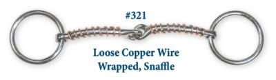 B321 Brad. Loose Copper Wire Wrap Snaffle