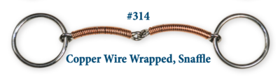 B314 Brad. Copper Wire Wrapped Snaffle